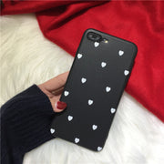 Cute Love Heart Cartoon Case For Iphone 7 Case Fashion Ultra Slim Soft Phone Cases For Iphone6 6s 7 8 Plus X Full Protect Cover