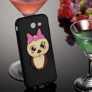 Cute TPU Phone Cover For Samsung Galaxy J3(2017) J5 2017 J7 2017 US Version Femal Owl Design 3D Pattern Case