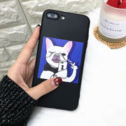 Cute Take Picture Gog Phone Case For Iphone X Case Funny Cartoon Illustration Soft Cover For Iphone 5 5s Se 6 6s 7 8plus Cases
