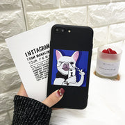Cute Take Picture Gog Phone Case For Iphone X XS Max XR Case Funny Cartoon Soft Cover For Iphone 5 5s Se 6 6s 7 8 Plus Cases
