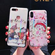 Cute Cartoon Cat Phone Case For IPhone 6 6S 7 8 Plus For Iphone 6 6S 7 8 Funda For IPhone X XR XS MAX Drop-proof Back Covers