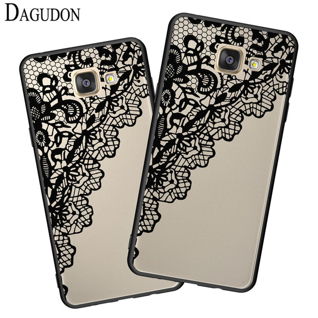 DAGUDON Sexy Lace Flower Case For Samsung Galaxy A5 2016 A510f Floral Hard Pc Back Cover For Samsung A5 2016 Classic Phone Cases