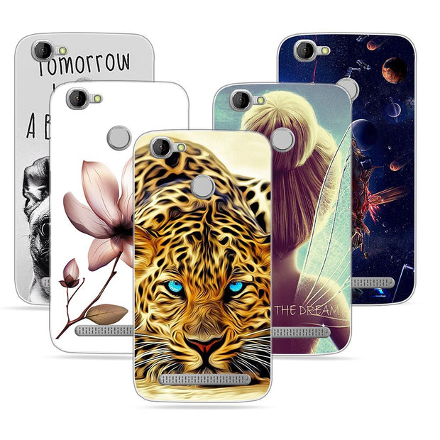 DIY Name Case For Homtom HT50 Case Silicon Shell For Homtom HT50 Cover Animal Pattern Cover For Homtom HT50 5.5 Phone Cases Capa