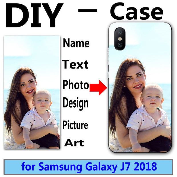 DIY Personalized Custom Photo Name Customize Printing Design Picture Case For Samsung Galaxy J7 Star J7 V 2nd 2018 J737 5.5""