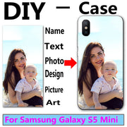 DIY Personalized Custom Photo Name Customize Printing Your Design Picture Case For Samsung Galaxy S5 Mini G800 S5mini 4.5 Inch
