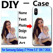 "DIY Personalized Custom Photo Name Customize Printing Your Design Picture Cover Case For Samsung Galaxy J7 Prime 5.5"" ON 7 2016"