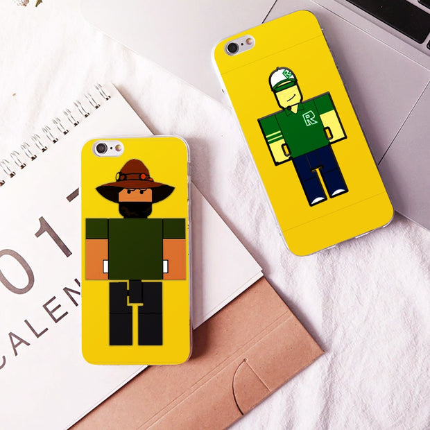 DK Roblox Game Creation Lovely Fashion Classic Phone Case Cover Hard Transparen For IPhone 6 6s 7 8plus 5s 5c 4s X XS XR XSMAX