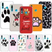 Dogs Is Best Friends Dog Paw Phone Case Cover For Huawei Nova 2i 3 3e 3i 4 Mate 10 20 Lite P20 Pro P20 Lite Hard PC Phone Cases