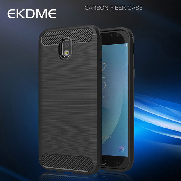 EKDME Carbon Fiber Armor Phone Case For Samsung Galaxy S9 Plus Case For Samsung Galaxy S9 TPU Texture Soft Silicone Coque