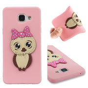 FKISSME Cute 3D Owl Cartoon Case For Samsung Galaxy A5 2016 Case A510 Soft TPU Silicone Cover For Samsung A5 2016 Phone Cases