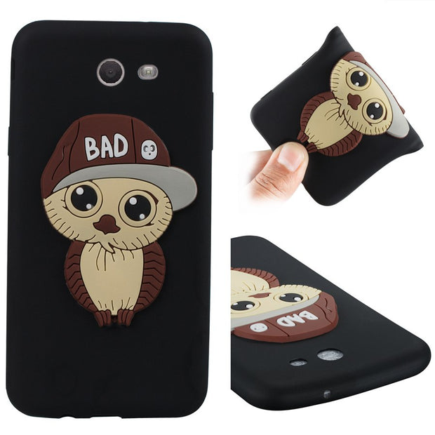 FKISSME Cute Cartoon 3D Owl Case For Samsung Galaxy J7 2017 Case J720 Soft TPU Silicone Cover For Samsung J7 2017 Phone Cases
