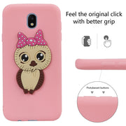 FKISSME Cute Cartoon 3D Owl Case For Samsung Galaxy J7 2017 Case J730 Soft TPU Silicone Cover For Samsung J7 2017 Phone Cases