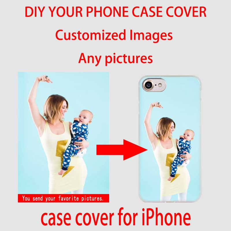 Fulcol Customized Diy Phone Case Printed Hard Clear Cover Case For