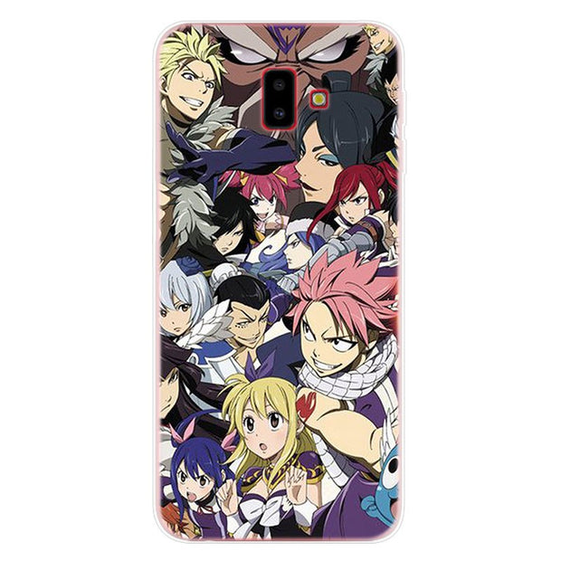 Fairy Tail Natsu Phone Case For Samsung Galaxy J2 J3 J4 Plus J5 J6 Plus J7 J8 2018 Soft Silicone Cases Cover