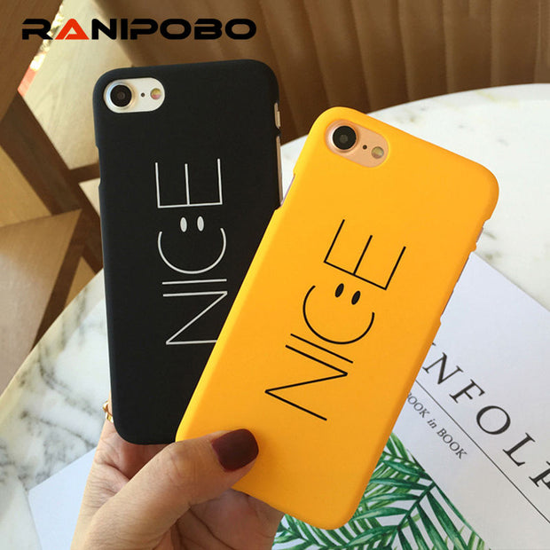 Fashion Couple Nice Words Phone Case For IPhone X 5 5S SE 6 6S Plus 7 7Plus 8 8Plus Slim Matte Stylish Hard PC Back Cover