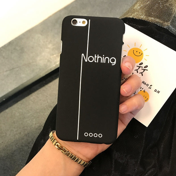 Fashion Creativity Letter Phone Case For Iphone 6 6S 7 8 Plus Cases Geometric Hard Matte Plastic Cool Back Cover For IPhone 5 5s