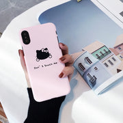 Fashion Cute Hello Kitty Case Cover For IPhone 7 8 Plus 6 6s Plus Capa PC Hard Phone Bag Cases For IPhone X Coque Fundas