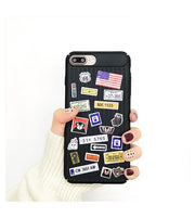 Fashion DIY Phone Case For IPhone 8 Luxury Trunk With Sticker Personality Cases For IPhone 6 6s 7 8 Plus X Hard Plastic Cover