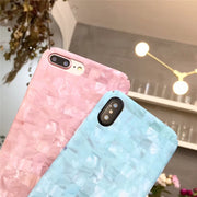Fashion Mosaic Matte Phone Case For Apple IPhone 6 6S Plus Coque Conch Hard PC Back Cover For Iphone X 10 6 7 Plus 8 Plus Capa