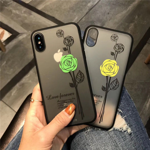 Fashion Sexy 3D Rose Flower Phone Case For IPhone 7 6 S 6S 8 Plus X Woman Lace Back Cover For IPhone7 5 5S SE Cute Floral Cover