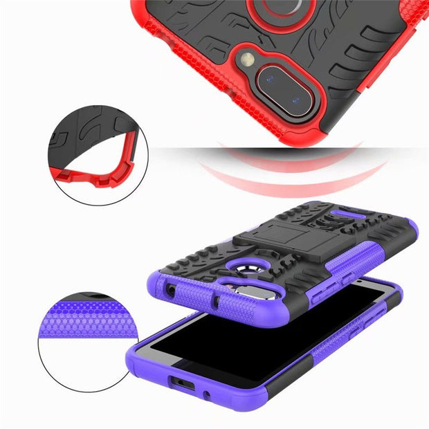 Fecoprior Redmi6 Redmi6A Case For Xiaomi Redmi 6 6A Back Cover PC TPU Silicon Stand Armor Heavy Rugged Celulars Fundas Coque