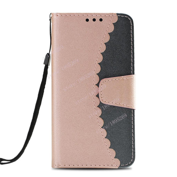 Flip Case For Samsung Galaxy A8 2018 Duos SM-A530F/DS A530F/DS Wallet Phone Case Leaf Leather Cover For A8 A 8 (2018) A530 Cover