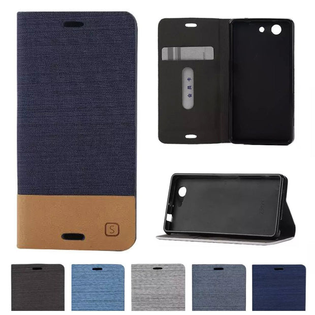 Flip Case For Sony Xperia Z 3 Compact Z3 Mini D5803 D5833 M55W Phone Magnetic Flip Leather Phone Cover For Z3Compact Z3mini Para