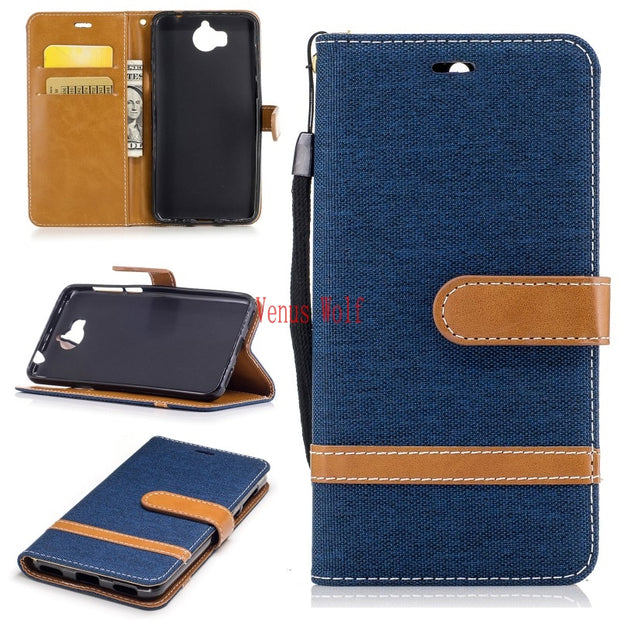 Flip Case For Huawei Y5 2017 MYA-L22 MYA-L23 Leather Cases