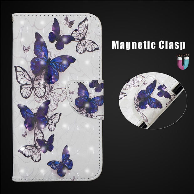 Flip Leather Case For Coque Xiaomi Redmi 6A Cover Butterfly 3D Wallet Flip Stand Phone Cases For Fundas Xiaomi Redmi 6 Pro Case