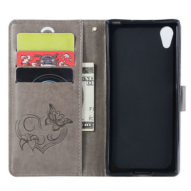 Flip Leather For Sony Xperia XA1 Case XA 1 LTE Dual G3121 G3316 G3112 Phone Bumper Fitted For Sony Xperia Z6 XperiaZ6 Hard Cover