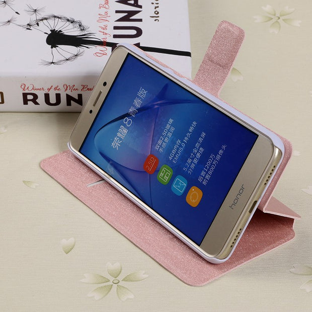 Flip Silk Case For ZTE Blade L5 Plus L110 A110 V Plus V580 Fundas Wallet Style Slots Cover V6 D6 X7 Z7 Grand X4 X3 Kickstand