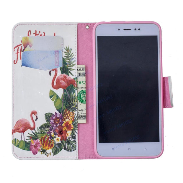 Flip Stand Wallet Card Slot Case For Xiaomi Redmi Note 5A 5 A Prime Case For Xiaomi Redmi Note A5 / Redmi Y1 Leather Phone Cover