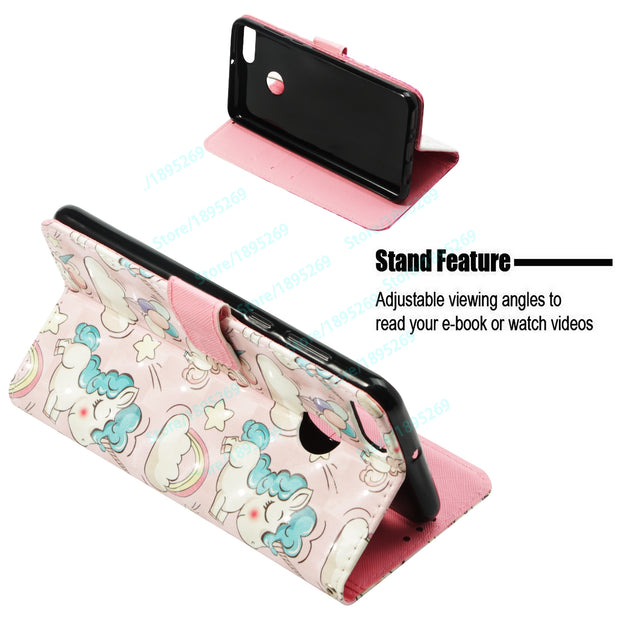 Flip Wallet Case For Huawei Y9 2018 FLA-LX1 FLA-LX2 Leather Phone Case For Huawei Y9 2018 FLA LX1 LX2 With Holder Magnetic Cover
