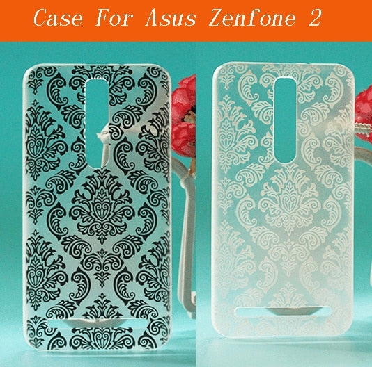 For Asus ZenFone 2 Vintage Paisley Flower Painting Pc Hard Plaste For Asus  ZenFone 2 5 5inch Free Shipping Skin Cover Case