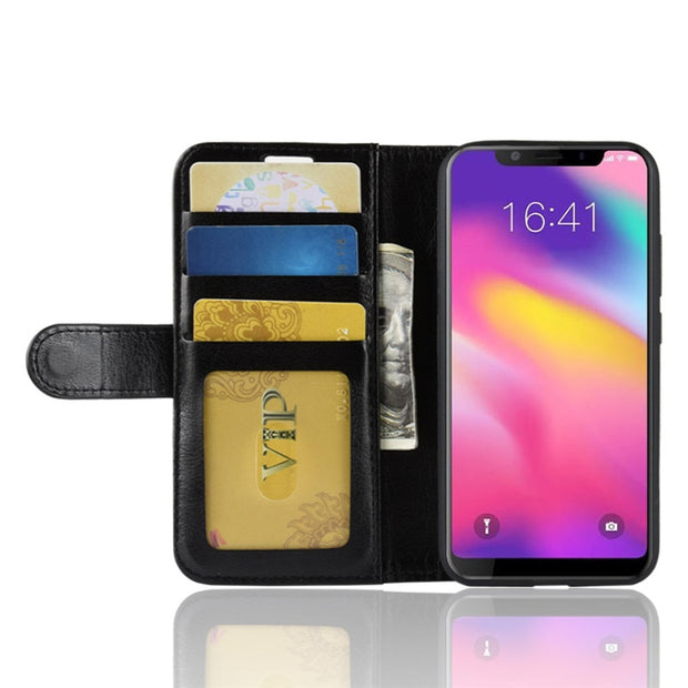 For Blackview A30/A20 Pro/A20/A10/P6/A7 Pro/A7 PU+TPU Business Solid Color Flip Case/With Card Pocket/Kickstand