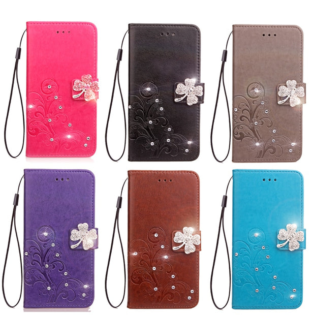 For Coque Motorola Moto M Case Leather PU + Soft TPU Silicon Wallet Stand Phone Case For Motorola M Cover Cases Fundas Capa