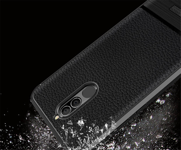 For Huawei G10 Litchi Pattern Case Brushed Slim Rugged Armor Shockproof Rubber Gel Soft TPU Cover For Huawei G10