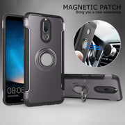 For Huawei Mate 10 Lite Case Silicone Hard PC Magnetic Ring Armor Cover Coque For Huawei Nova 2i Case For Honor 9i Case Capas