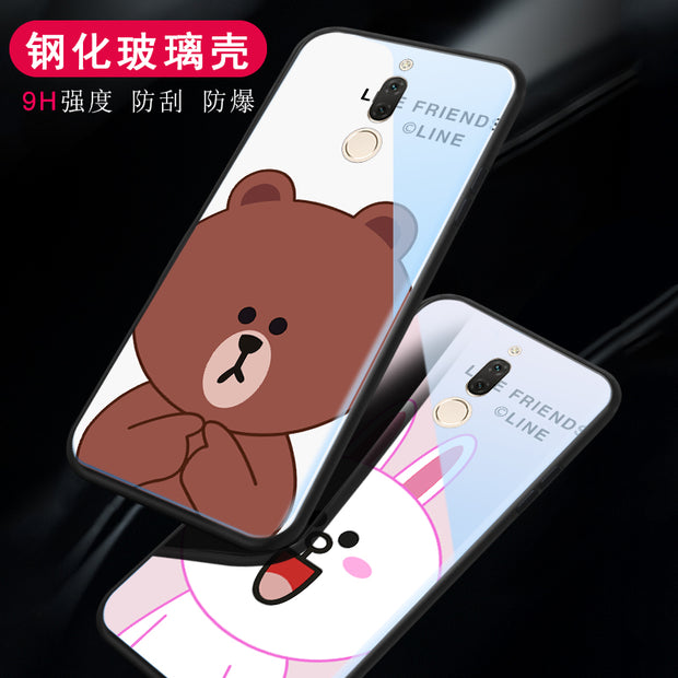 For Huawei Nova 2i / Maimang 6 Coque Silicone Shock Proof Luxury Slim Tempered Glass Cover For Huawei Mate 10 Lite Back Case