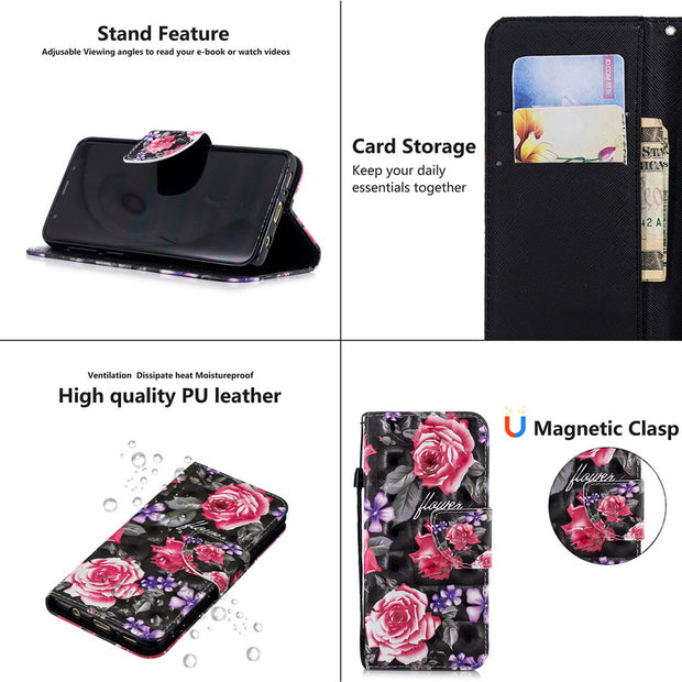 For Huawei P Smart Case Magnetic Wallet PU Leather Cover For Huawei P Smart Flip Case For Huawei P Smart PSmart Phone Cases