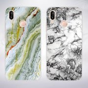 For Huawei P20 Lite Case For Huawei P Smart Cover Soft Silicon Marble For Huawei Mate 10 Lite Cover For Huawei P20 P20 Pro