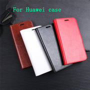 For Huawei P30/Y9 2019/mate 20 Pro/mate 20/Nova 3i/Y5 2018 PU+TPU Business Solid Color Flip Case/With Card Pocket/Kickstand