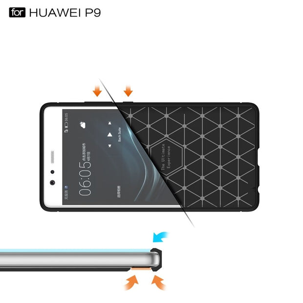 For Huawei P8 P9 Lite 2017 Plus Case Silicone Back Cover Honor 9 8 Lite Luxury Hybrid Armor Shockproof Phone Protection Shell