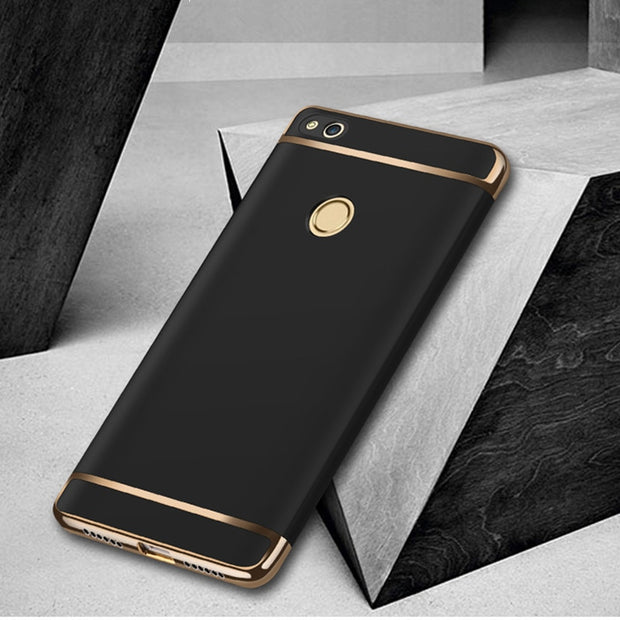 "For Huawei P8 Lite 2017 5.2""Cases Luxury Protective Back Cover 3 In 1 Hard PC Hybrid Case For Huawei Honor 8 Lite Capa"