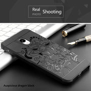 For MEIZU M5 M5S M2 M3 Note Case Silicon Back Cover 3d Carved Dragon Soft Anti-knock Coque For Meizu MX5 MX6 U10 U20 Pro 6 6S