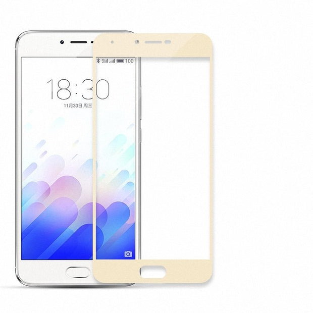 For Meizu M3x Meilan X Full Cover Tempered Glass Screen Protector For Meizu U10 Meizu U20 Full Coverage Glass Case Film