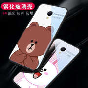 "For Meizu M6s Mblu S6 Luxury Coque Silicone Shock Proof Luxury Slim Tempered Glass Cover For Meizu M6s 5.7"" Back Case"