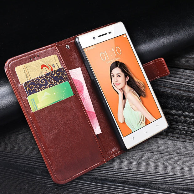 For OPPO Neo 7 A33 Case Flip Wallet PU Leather Stand Cover Case For OPPO A33 Neo 7 Case Fundas Capa