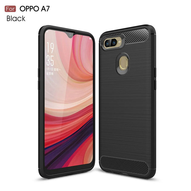new style 99d07 27230 For Oppo A7 WIERSS Armor Case Cover For Oppo A7 For Oppo A3s Shockproof  Phone Back Cover Case