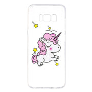For Samsung Galaxy S8 Plus Case Soft TPU Silicone Painted Clear Lucid Flowers Cute Kitty Skin For Samsung Galaxy S7 Edge Cover